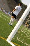 Voetbal - de Praktijk die van de Voetbal - opleidt Stock Afbeeldingen