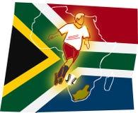 Voetbal-deze tijd voor Afrika Royalty-vrije Stock Afbeeldingen