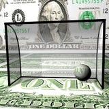 Voetbal, dollarbal in kragen Stock Afbeelding