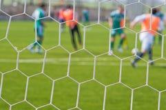 Voetbal - een abstracte achtergrond. royalty-vrije stock foto's