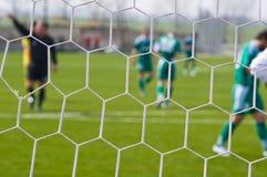 Voetbal - een abstracte achtergrond. royalty-vrije stock afbeeldingen