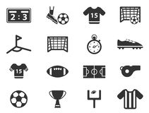 Voetbal eenvoudig pictogrammen Royalty-vrije Stock Afbeeldingen