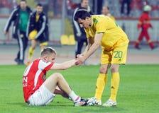 Voetbal eerlijk spel stock foto