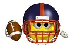 Voetbal Emoticon - met het knippen van weg Stock Foto