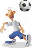 Voetbal en allen Royalty-vrije Stock Foto's