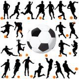 Voetbal en balvector Royalty-vrije Stock Afbeelding