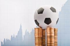 Voetbal en geld Royalty-vrije Stock Afbeelding