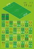 Voetbal en voetbal infographic reeks stock illustratie