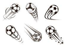 Voetbal en voetbalemblemen Stock Foto