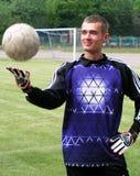 Voetbal goalie Stock Foto's