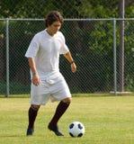 Voetbal - het Druppelen van de Voetbalster Royalty-vrije Stock Foto's
