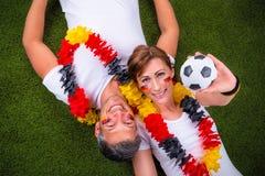 Voetbal het Duits Stock Foto