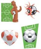 Voetbal-illustratie-vector pictogrammen Royalty-vrije Stock Fotografie