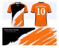 Voetbal Jersey en het ontwerpmalplaatje van t-shirtsporten royalty-vrije illustratie