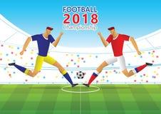 Voetbal 2018 kampioenschap Stock Fotografie