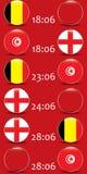 Voetbal kampioenschap Dit is dossier van EPS10-formaat De Realistic Football ballen van groepsg stock illustratie