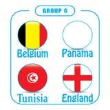 Voetbal kampioenschap Dit is dossier van EPS10-formaat Rusland De Realistic Football ballen van groepsg Stock Afbeeldingen