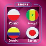 Voetbal kampioenschap Dit is dossier van EPS10-formaat Rusland De Realistic Football ballen van groepsh Stock Foto