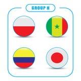 Voetbal kampioenschap Dit is dossier van EPS10-formaat Rusland De Realistic Football ballen van groepsh Royalty-vrije Stock Foto's
