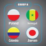 Voetbal kampioenschap Dit is dossier van EPS10-formaat Rusland De Realistic Football ballen van groepsh Royalty-vrije Stock Fotografie
