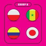 Voetbal kampioenschap Dit is dossier van EPS10-formaat Rusland De Realistic Football ballen van groepsh Stock Fotografie