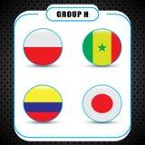 Voetbal kampioenschap Dit is dossier van EPS10-formaat Rusland De Realistic Football ballen van groepsh Royalty-vrije Stock Afbeelding