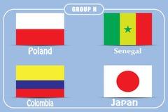 Voetbal kampioenschap Dit is dossier van EPS10-formaat Rusland De Realistic Football ballen van groepsh stock illustratie