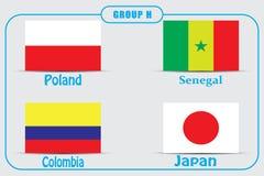 Voetbal kampioenschap Dit is dossier van EPS10-formaat Rusland De Realistic Football ballen van groepsh vector illustratie