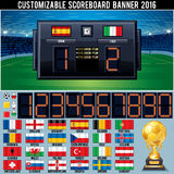 Voetbal Klantgericht Scorebord royalty-vrije illustratie