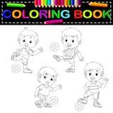 Voetbal kleurend boek stock illustratie