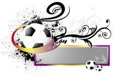 Voetbal met knoop Stock Foto