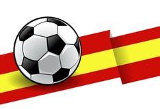 Voetbal met vlag - Spanje Stock Afbeelding