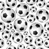 Voetbal naadloos patroon Stock Afbeeldingen
