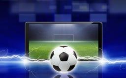 Voetbal online stock afbeelding