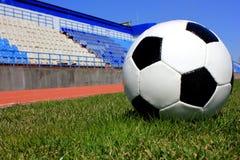Voetbal op een grasgazon Royalty-vrije Stock Foto