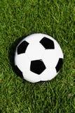 Voetbal op gras Stock Afbeelding