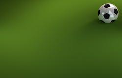 Voetbal op Groene Achtergrond Stock Afbeelding
