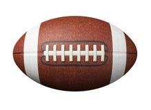 Voetbal op wit Stock Afbeelding
