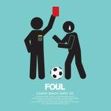 Voetbal Rode Kaart stock illustratie