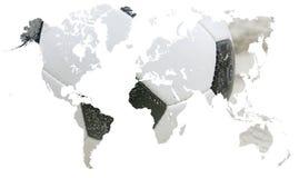 Voetbal rond de wereld Stock Foto's