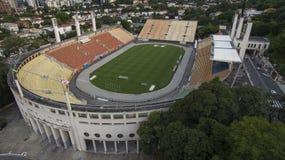 Voetbal rond de wereld, Pacaembu-Stadionsao Paulo Brazil stock foto's