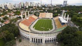 Voetbal rond de wereld, Pacaembu-Stadionsao Paulo Brazil royalty-vrije stock fotografie