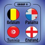 Voetbal Rusland Wereldkampioenschap De Realistic Football ballen van groepsg royalty-vrije illustratie