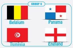 Voetbal Rusland Wereldkampioenschap De Realistic Football ballen van groepsg vector illustratie