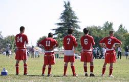 Voetbal Sidelines royalty-vrije stock afbeelding