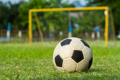 Voetbal (socer) en doel Royalty-vrije Stock Afbeelding