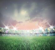 voetbal stadium stock afbeeldingen