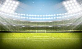 voetbal stadium Voetbalarena Stock Foto