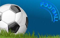 Voetbal tijdens regen Stock Foto