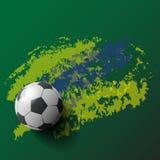 voetbal/van de voetbalbal achtergrond Stock Foto